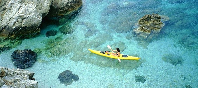 Kayaking on Elba